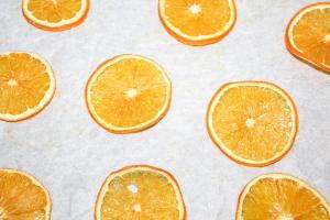 Dryed orange slices